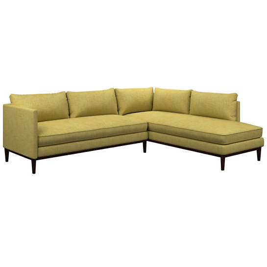 Canvasuede Citrus Paseo Sectional