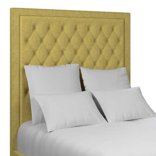 Canvasuede Citrus Stonington Tufted Headboard