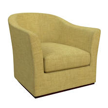 Canvasuede Citrus Thunderbird Swivel Chair