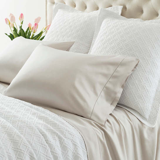 Carina Sandstone Fitted Sheet