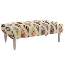 Carousel  Tapered Cerused Oak Leg Rug Ottoman