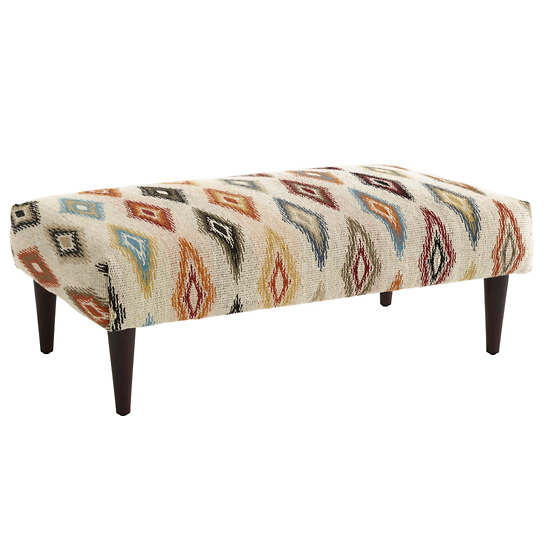 Carousel  Tapered Tobacco Leg Rug Ottoman