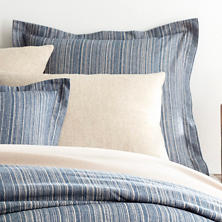 Cascade Stripe Flannel Blue/Oatmeal Sham