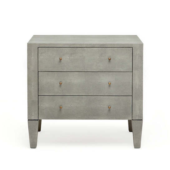 Castor Grey Sorin Double Nightstand