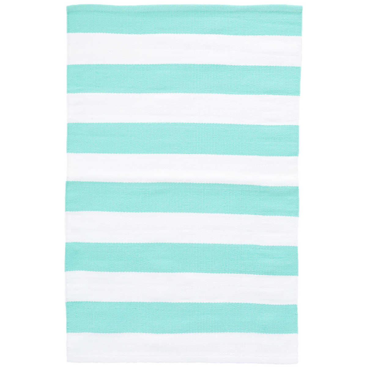 Catamaran Stripe Aqua White Indoor Outdoor Rug The Outlet