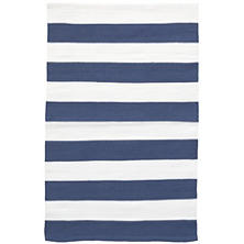 Catamaran Stripe Denim/White Indoor/Outdoor Rug