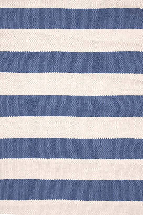 Catamaran Stripe Denim/Ivory Indoor/Outdoor Rug