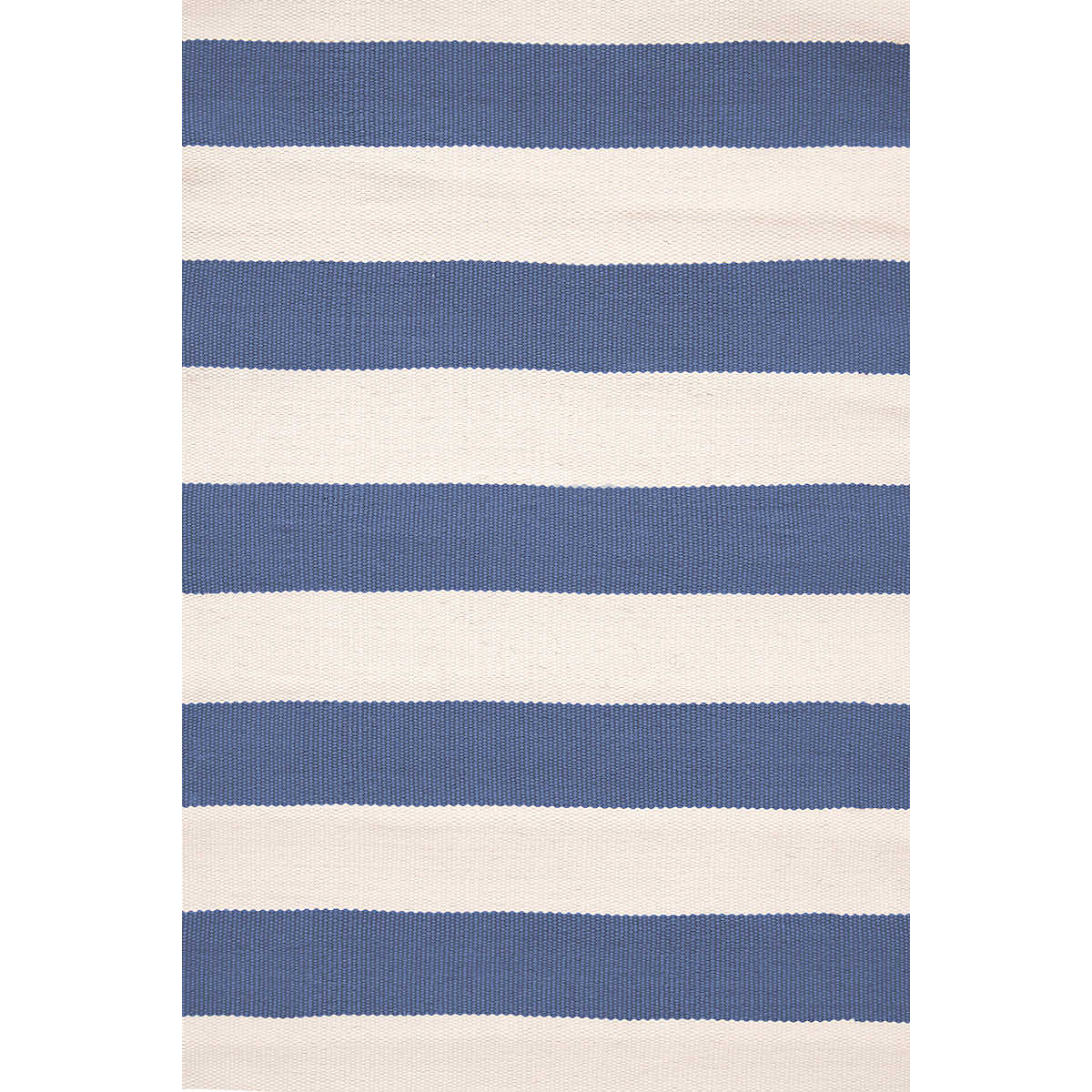 Catamaran Stripe Denim/Ivory Indoor/Outdoor Rug | Dash & Albert