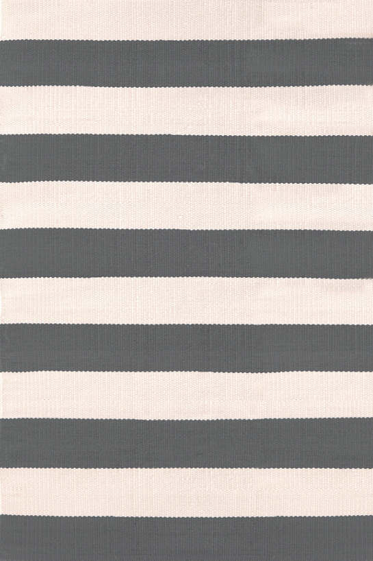 Catamaran Stripe Graphite/Ivory Indoor/Outdoor Rug