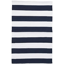 Catamaran Stripe Navy/White Indoor/Outdoor Rug