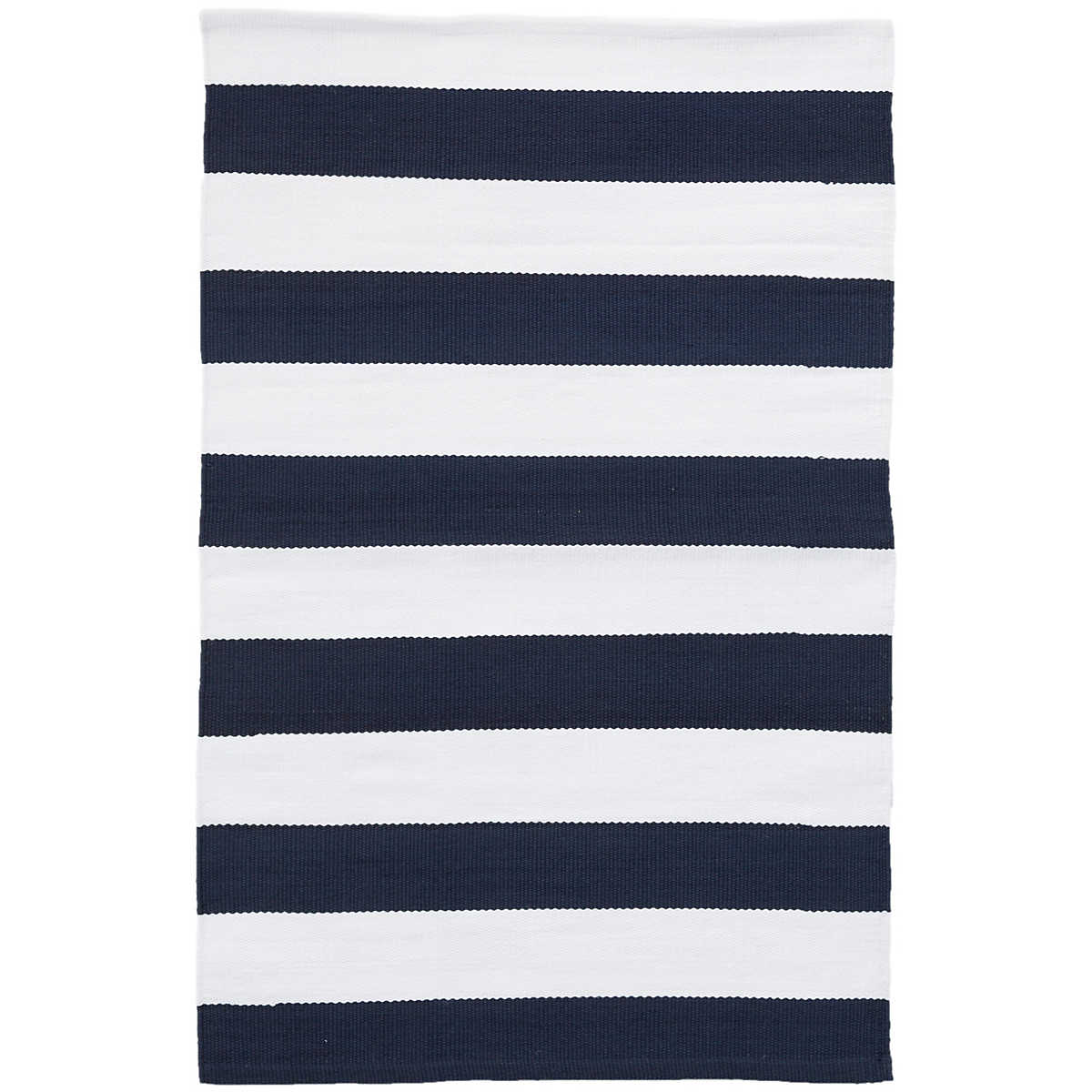Catamaran Stripe Navy White Indoor Outdoor Rug Dash Amp Albert