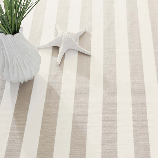 Catamaran Stripe Platinum/White Indoor
