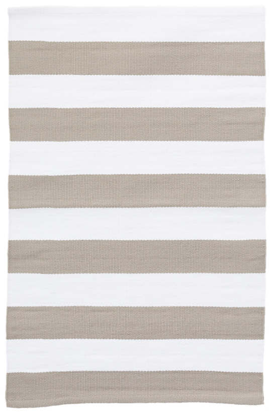 Catamaran Stripe Platinum/White Indoor/Outdoor Rug