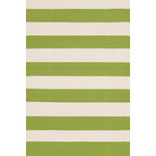 Catamaran Stripe Sprout/Ivory Indoor/Outdoor Rug