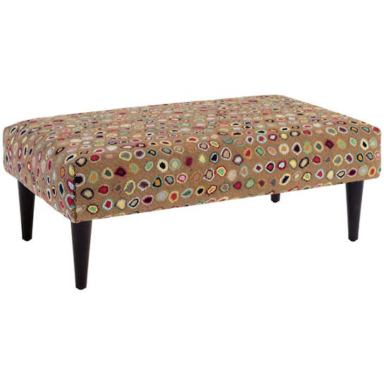 Cat's Paw Brown Tapered Tobacco Leg Rug Ottoman