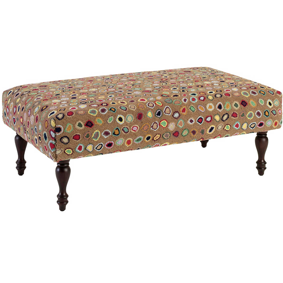 Cat S Paw Brown Turned Leg Rug Ottoman Furniture