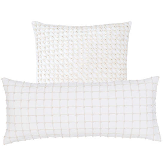 Chadna White Decorative Pillow