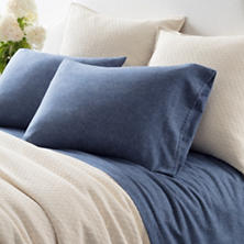 Chambray Flannel Blue Sheet Set