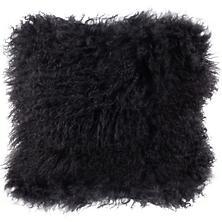Charcoal Longwool Tibetan Sheepskin Decorative Pillow