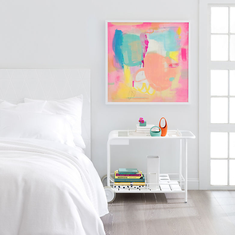 How To Add Pops Of Color To An All-White Bedroom