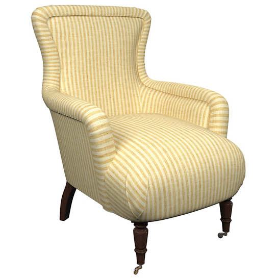 Adams Ticking Gold Charleston Chair