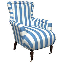Alex French Blue Charleston Chair