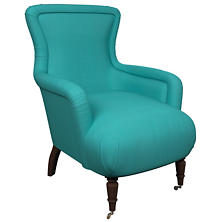 Estate Linen Turquoise Charleston Chair