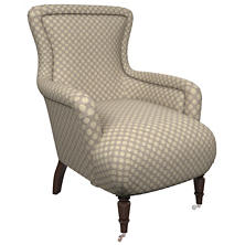 Sophie Embroidery Grey Charleston Chair