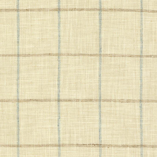 Chatham Tattersall Light Blue/Natural Upholstery Swatch