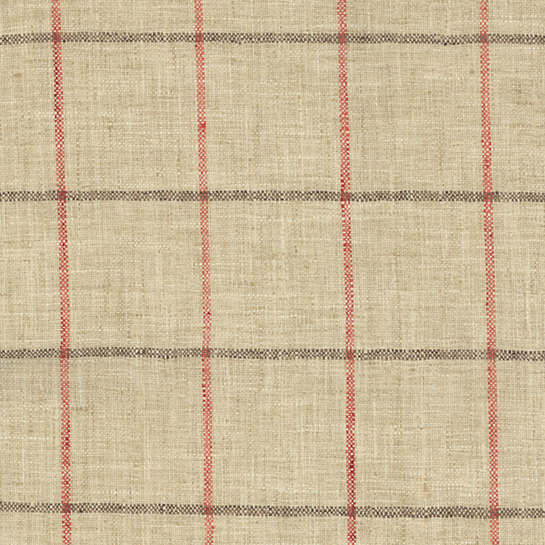 Chatham Tattersall Brick/Brown Upholstery Swatch
