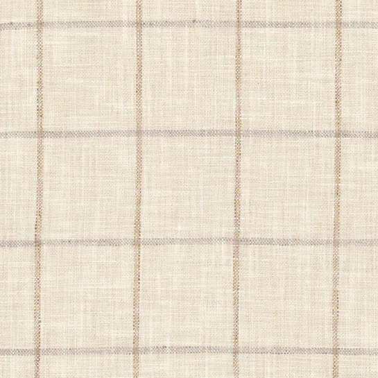 Chatham Tattersall Natural/Grey Indoor/Outdoor Fabric