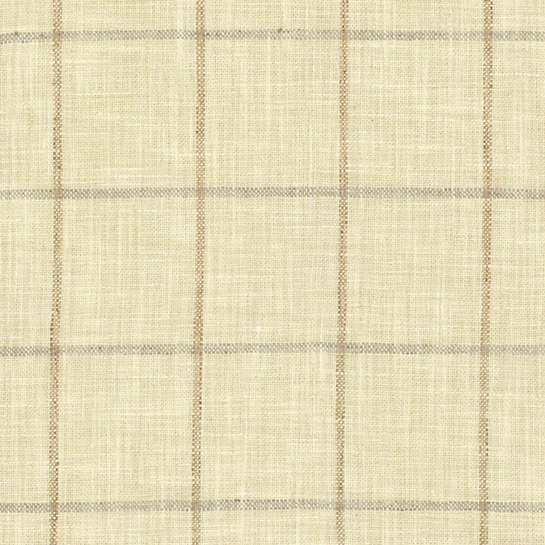 Chatham Tattersall Natural/Grey Upholstery Swatch