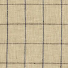 Chatham Tattersall Navy/Brown Upholstery Swatch