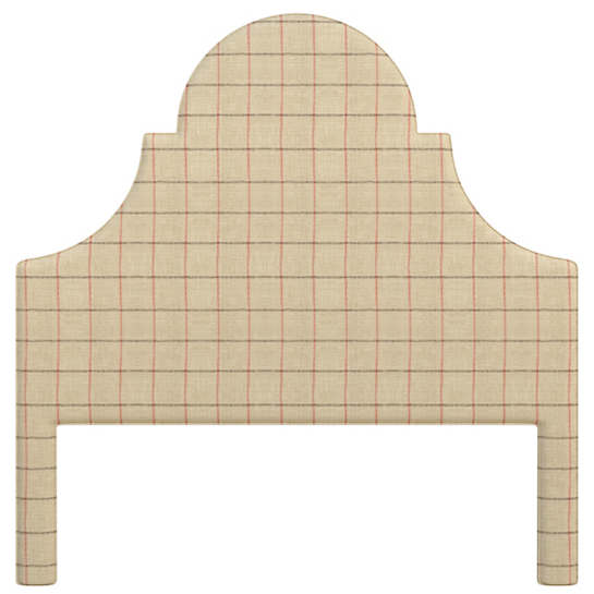 Chatham Tattersall Brick/Brown Montaigne Headboard