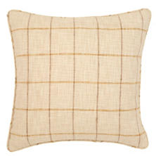 Chatham Tattersall Gold/Natural Indoor/Outdoor Decorative Pillow