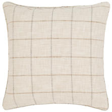 Chatham Tattersall Natural/Grey Indoor/Outdoor Decorative Pillow
