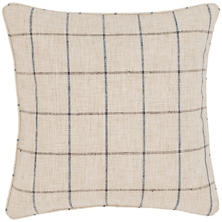 Chatham Tattersall Navy/Brown Indoor/Outdoor Decorative Pillow