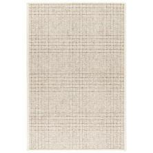Checkers Natural Woven Wool Rug