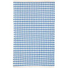 Checks French Blue Woven Cotton Rug