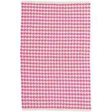 Checks Fuchsia Woven Cotton Rug