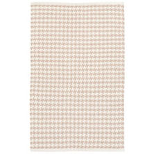 Checks Linen Woven Cotton Rug