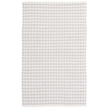 Checks Pearl Grey Woven Cotton Rug