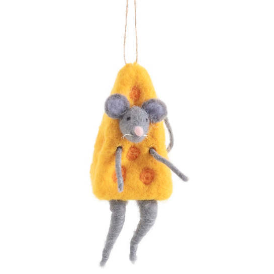 Cheese Mouse Ornament
