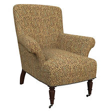 Cheetah Linen Barrington Chair