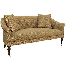 Cheetah Linen Becket Loveseat