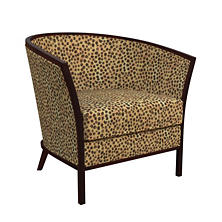 Cheetah Linen Bijou Chair