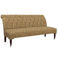 Cheetah Linen Bordeaux Settee