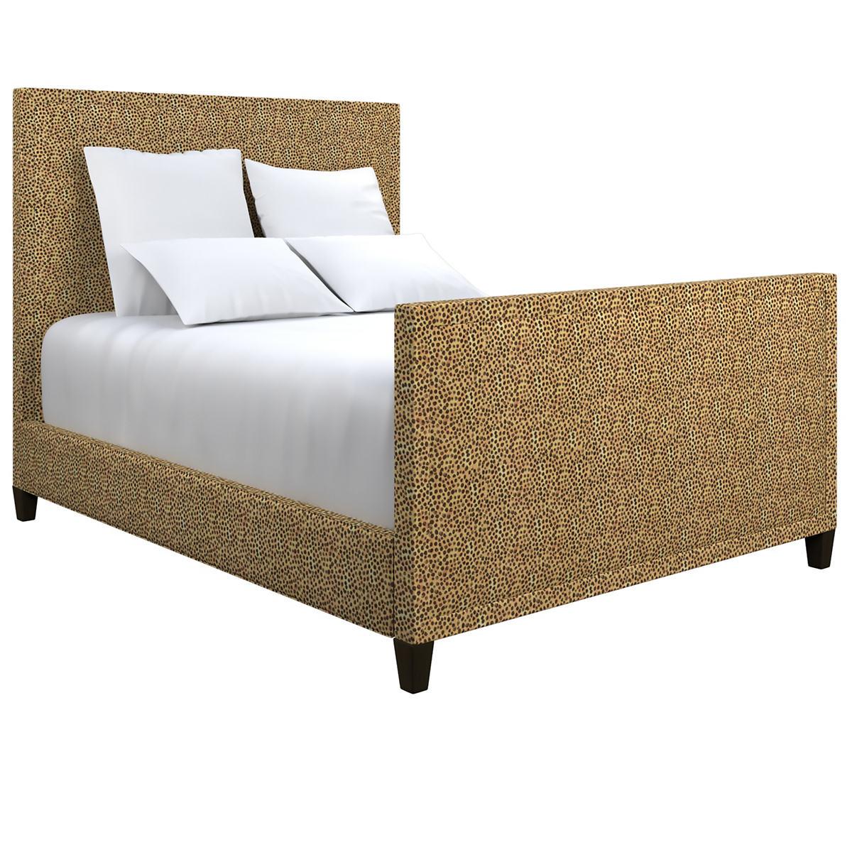 Cheetah Linen Colebrook Smoke Bed