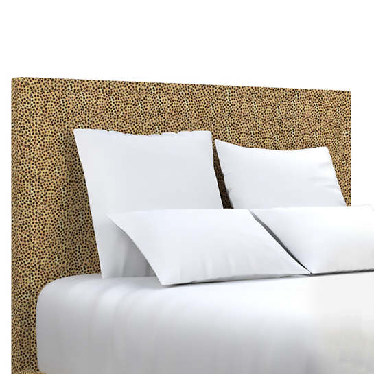 Cheetah Linen Colebrook Smoke Headboard