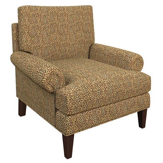 Cheetah Linen Easton Chair